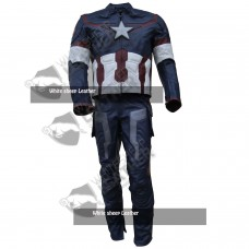 Avengers 2 Captain America Real Leather Coustume (Free Shipping )